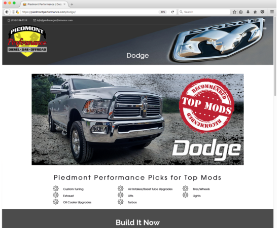 Dodge Brand Page