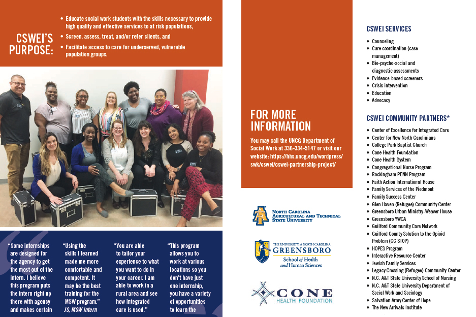UNCG Congregational Social Work Education Initiative